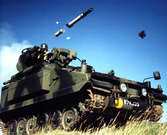 British Army Artillery Starstreak High Velocity Missile Armed