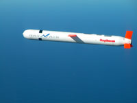 Tomahawk Block IV cruise missile during a flight test