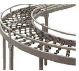 Gravity Conveyor System - Gravity conveyors are the cost effective solution to many materials handling needs. The rollers reduce surface friction and allow goods to be moved manually without the aid of power. They suit flat based goods or those which are transported in flat based containers. They can support loads up to 110kg per metre.