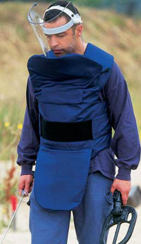 700 Series De-mining body armour from LBA