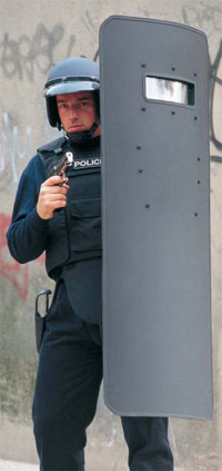 Curved Ballistic Shields from LBA