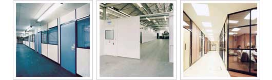 Partitioning systems are the most cost effective way of providing a workshop or office area.
